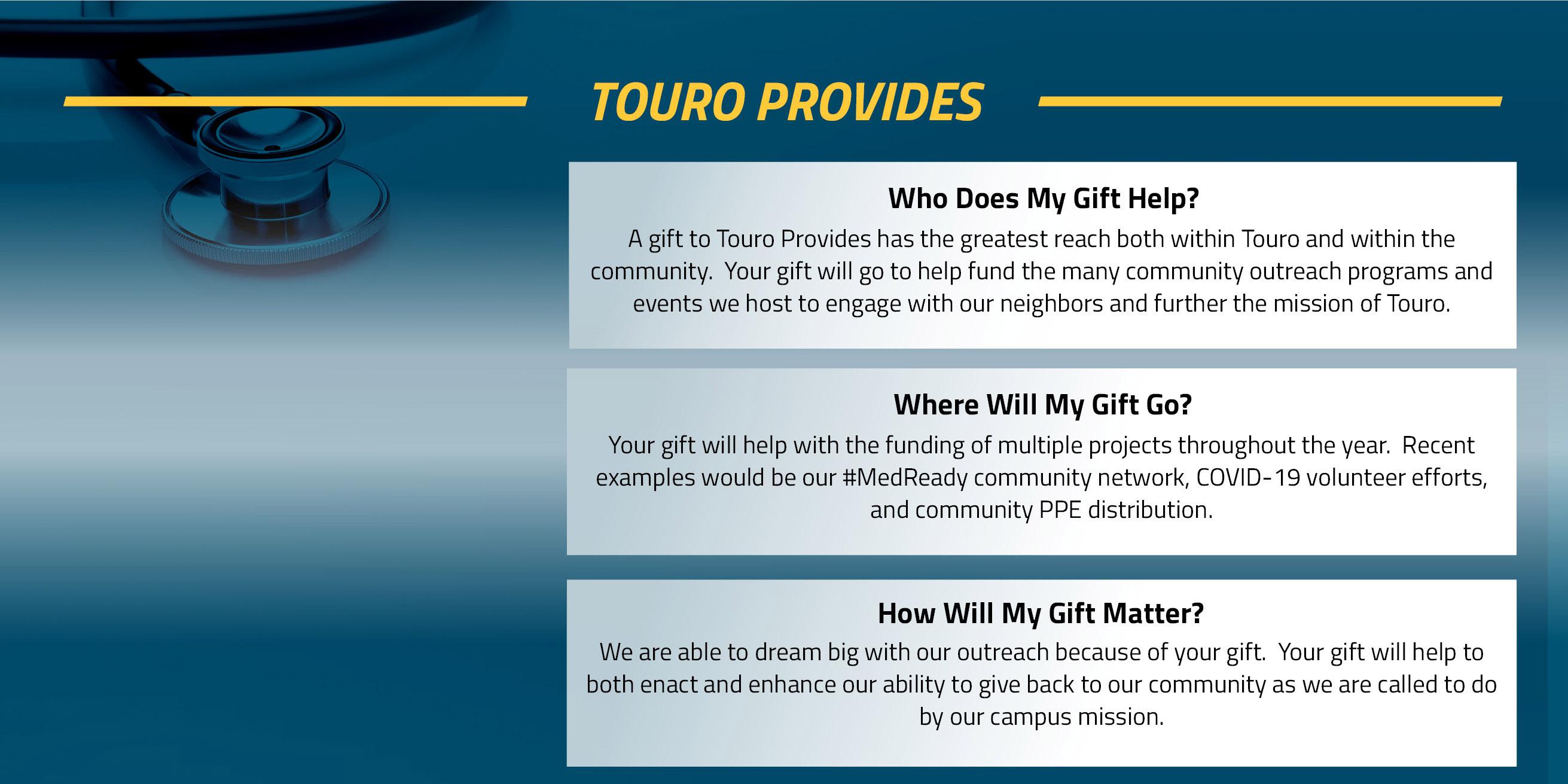 Touro Provides Fund